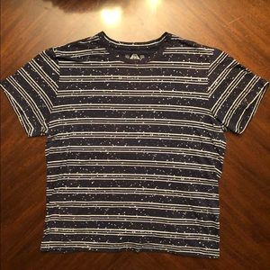 Men's American Rag Navy Striped Speckled T-Shirt